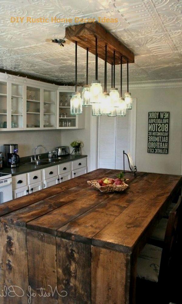 Amazing Rustic Kitchen Island DIY Ideas #diyhomedecor #diy