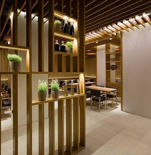 Architektur Raumteiler aus Holz in großartigen Designs aus Holz Wohnideen 3 ein…