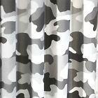 Armee Tarnung grau gefüttert Vorhänge Kinderzimmer Kinder 137cm Deep Rolling ....