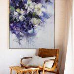 Arte de pared grande, pintura acrílica abstracta, pintura original, pintura al óleo, arte de lienzo, arte de lienzo grande, pinturas sobre lienzo, arte floral