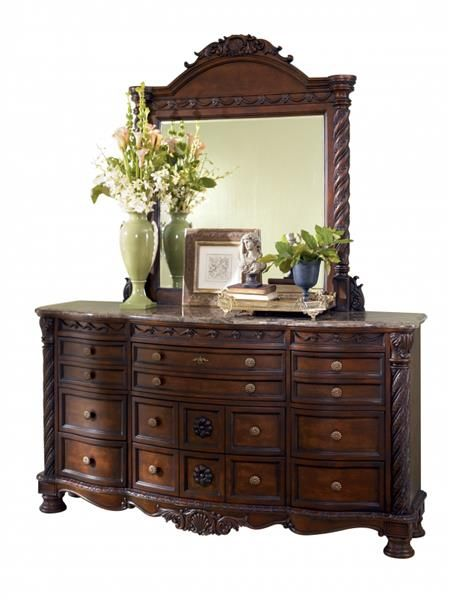 Ashley Furniture North Shore Dresser and Mirror