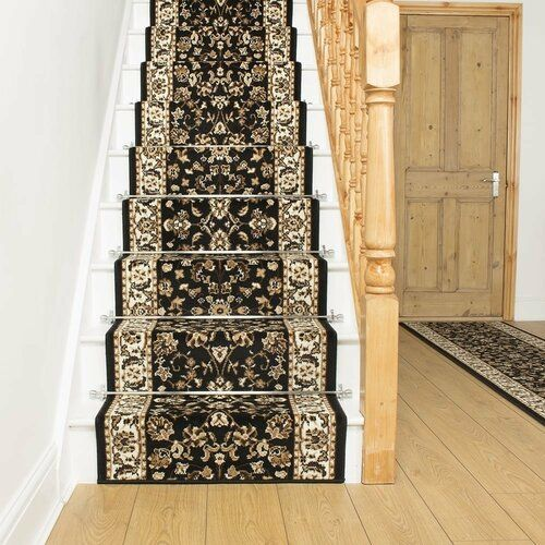 Astoria Grand Adamo Tufted Black Stair Runner   Wayfair.co.uk