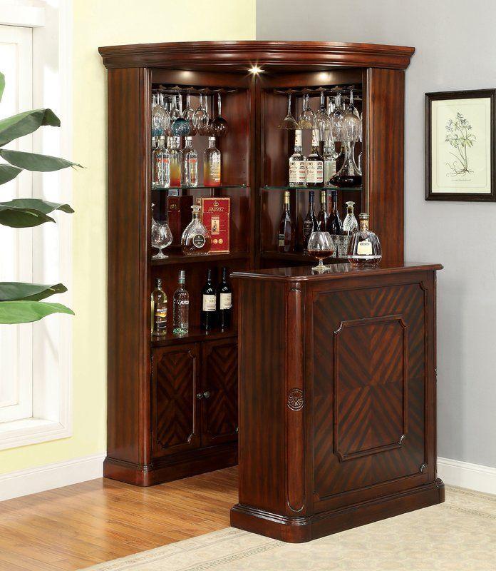 Astoria Grand Deasia Corner Curio Cabinet | Wayfair