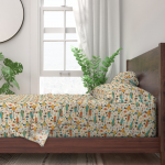 Atomic Retro Mid Century Modern Planet 100% Cotton Sateen Sheet Set by Roostery - Walmart.com