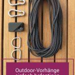Aufhängesystem für Outdoor-Vorhänge [Stahl-Ersatz-Seil + Klett] #balkonsichts...