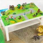 Aufkleber, Bauernhof, IKEA LACK, Kindertisch, Spieltisch, Sticker, Spielmatte, Spieldecke, Pferde, Waldtiere, Tiere, (Möbel NICHT inklusive)
