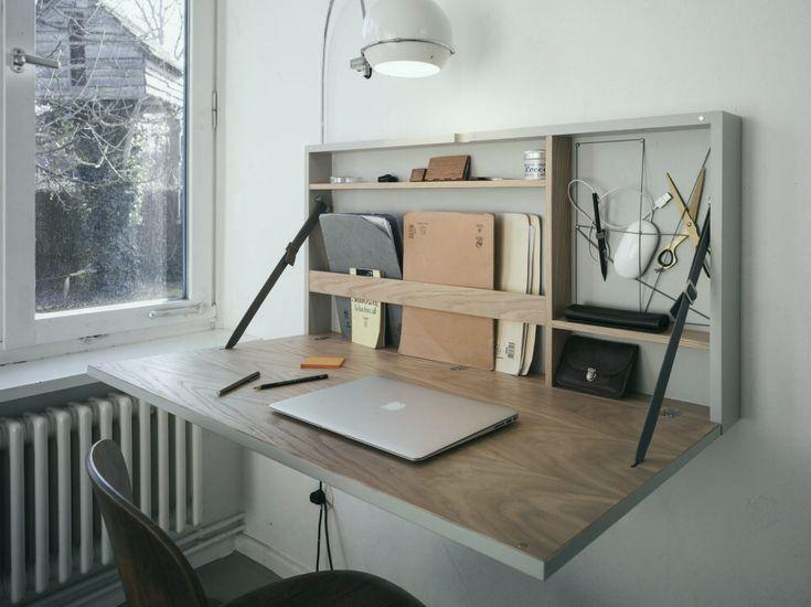 Ausgezeichnet Denken Sie daran, einen Klapptisch anstelle eines vollen Schreibtisches zu inst…