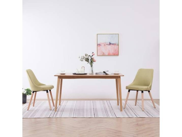BISHOP Esszimmerstühle 2 Stück Grün Stoff