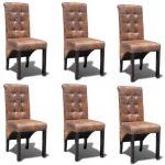 BISHOP Esszimmerstühle 6 Stk. Kunstleder