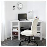 BRUSALI Eckschreibtisch - weiß - IKEA