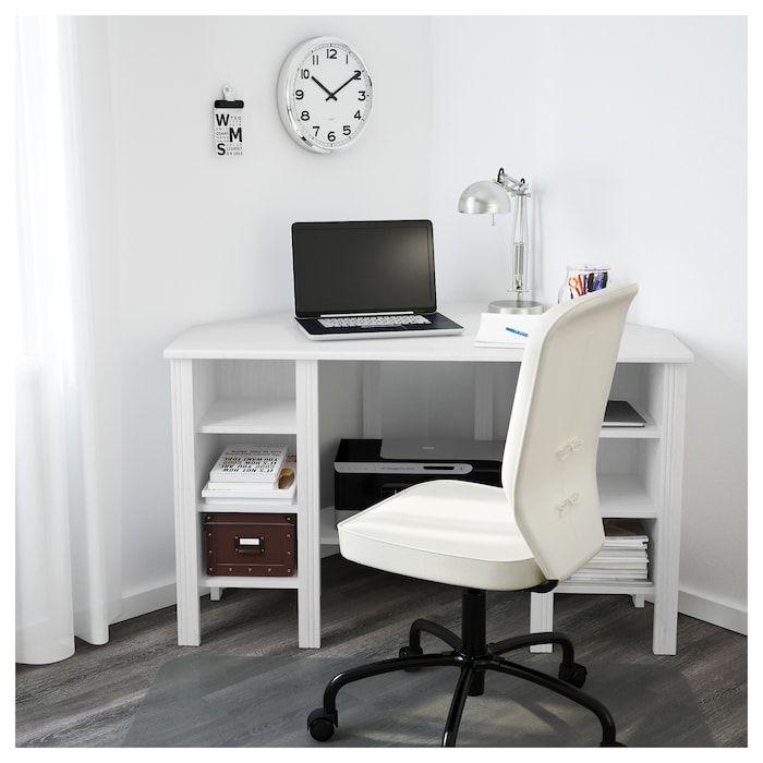 BRUSALI Eckschreibtisch – weiß – IKEA