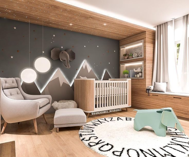 Baby Room Inspiration – Illuminated Mountains – Crafts – Home Fashions