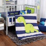 Baby dinosaur blue crib comforter set, Guarantee*