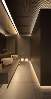 Badezimmer gestalten kleine braune Puder-Räume um 21 Ideen#kitchengarden #garde…