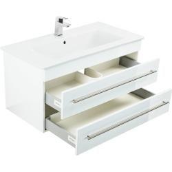 Badmöbel mit Villeroy & Boch Venticello Waschbecken 80 cm weiss hochglanzEmotion-24