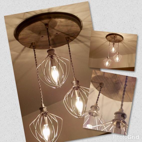 Bakery Restaurant Lighting Farmhouse Lighting – Dining Room Lighting -Industrial Chandelier – Whisk Chandelier- Kitchen Lighting
