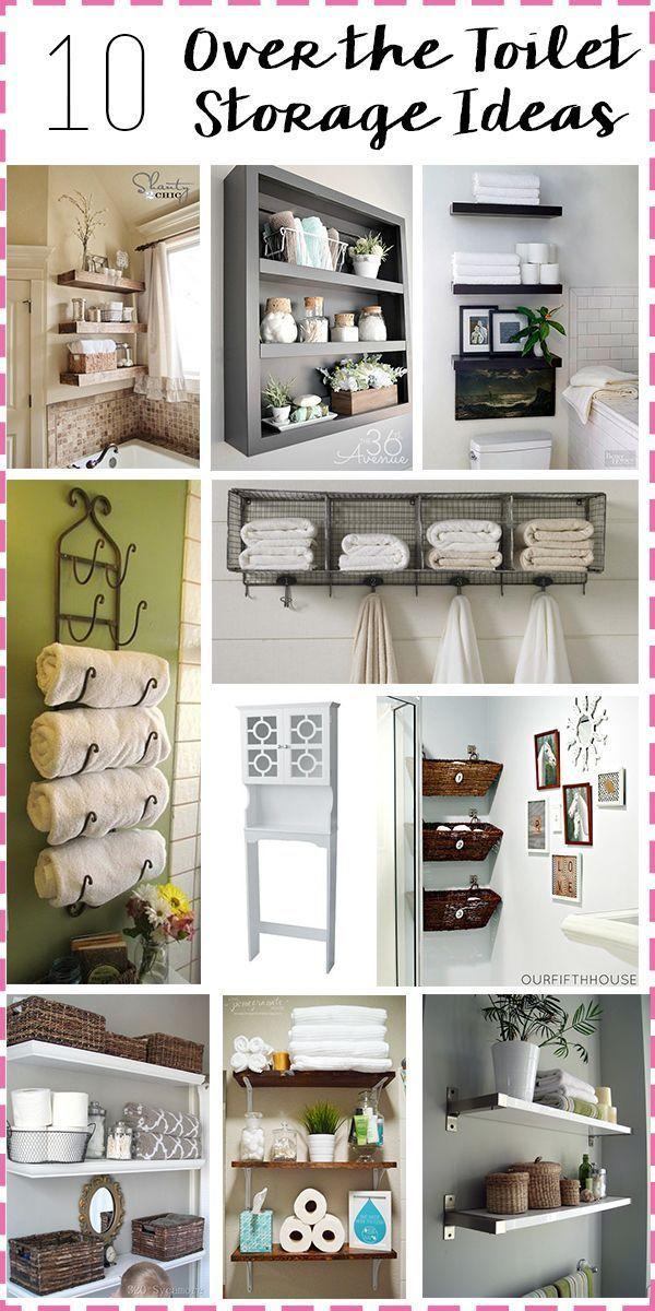 Bathroom Storage: Over the toilet bathroom storage ideas