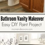 Bathroom Vanity Makeover – Easy DIY Home Paint Project