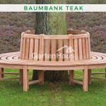Baumbank Ideen: Baumbank Teak #palettengarten Bank Garten Holz: Die Baumbank Tea...