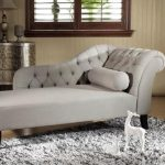 Baxton Studio Aphrodite Traditional Gray Fabric Upholstered Chaise 28862-4364-HD - The Home Depot