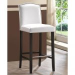 Baxton Studio Libra White Faux Leather Upholstered 2-Piece Bar Stool Set 2PC-4298-HD - The Home Depot
