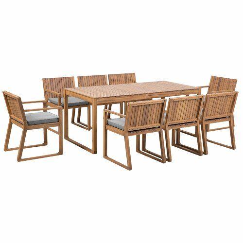 Bay Isle Home Nibbi 8 Seater Dining Set with Cushions | Wayfair.co.uk