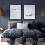 Be Still My Soul Print, Be Still My Soul Poster, Set of 2 prints, Bedroom Wall Decor, Scandinavian Decor, Monochrome Typography, Text Poster