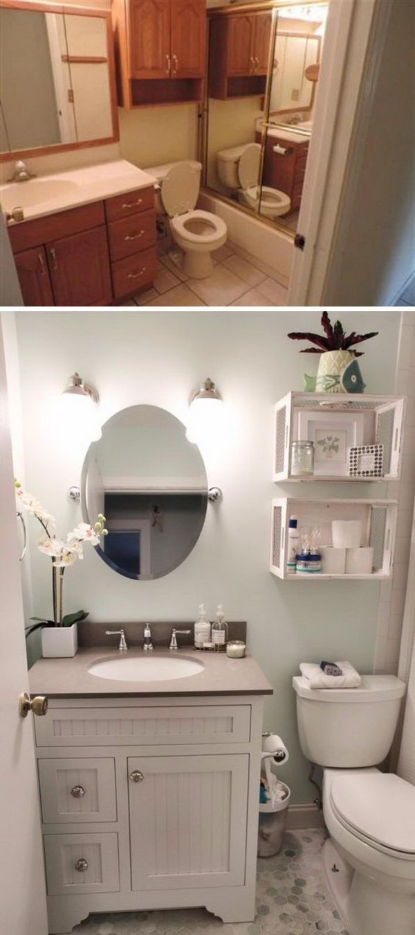 Before and After Makeovers: 30+ Awesome Bathroom Remodeling Ideas 2018