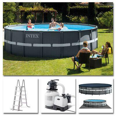 Bei Freizeit-Store   INTEX Komplettset Ultra XTR Frame Pool Ø 549x132cm + S