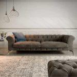 Bellagio modern tufted sofa in a 3 seater maxi linear model