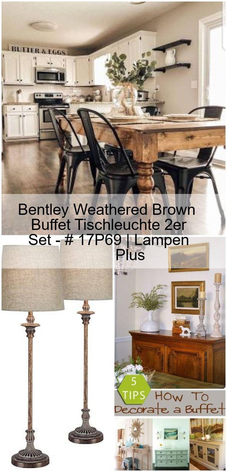 Bentley Weathered Brown Buffet Tischleuchte 2er Set – # 17P69   Lampen Plus