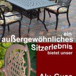 Bequeme, leichte Gartenmöbel aus Aluminium-Guss für Terasse, Balkon, Garten und sehr pflegeleicht.