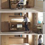 Bett-Schreibtisch-Combos sparen Platz und fügen Interesse zu kleinen Räumen hi...