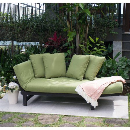 Better Homes & Gardens Delahey Outdoor Daybed with Cushions – Green – Walmart.com