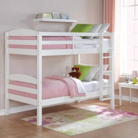 Better Homes and Gardens Leighton Twin Over Twin Wood Bunk Bed, Multiple Finishes – Walmart.com