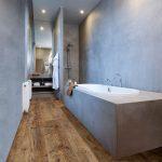 Bijzondere vloeren voor de badkamer: badkamervloer van PVC met houtlook - Module...