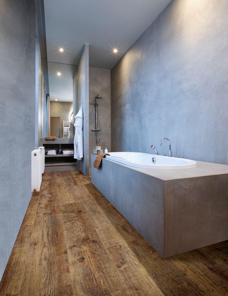 Bijzondere vloeren voor de badkamer: badkamervloer van PVC met houtlook – Module…