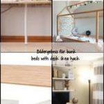 Bildgröße für Etagenbetten mit Schreibtisch ikea hack, #diydeskgirlsroom #diydeskikea #diydes...