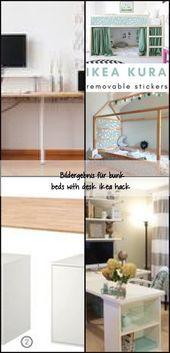 Bildgröße für Etagenbetten mit Schreibtisch ikea hack, #diydeskgirlsroom #diydeskikea #diydes…