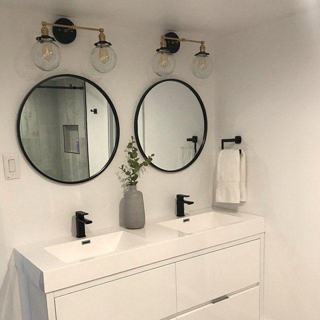 Black Gold Sconce – Mid Century Wall Sconce –  Cone Wall Light – Brass Wall Fixture – Vanity Lighting – Bathroom Lights