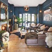 Blaue Wohnzimmerideen#designe #designerdeinteriores #designersareesdelhi #design…