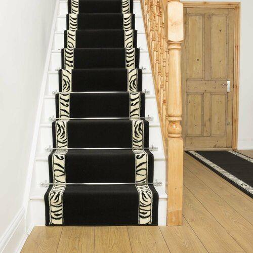Bloomsbury Market Barbosa Twist Pile Black Stair Runner | Wayfair.co.uk