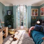 Blue living room inspiration. Walls painted in six blue by farrow and ball. Fren... - Living Room