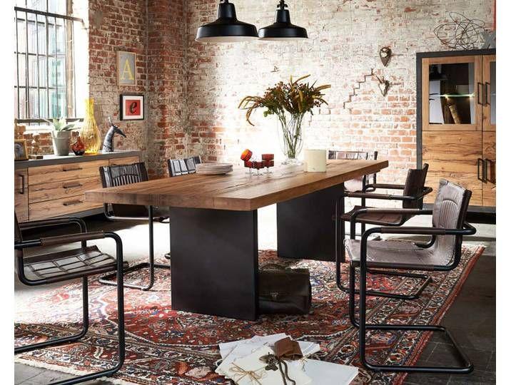 Bodahl Massivholz Esstisch Rustic Oak Lucca 240×110 cm / mocca black
