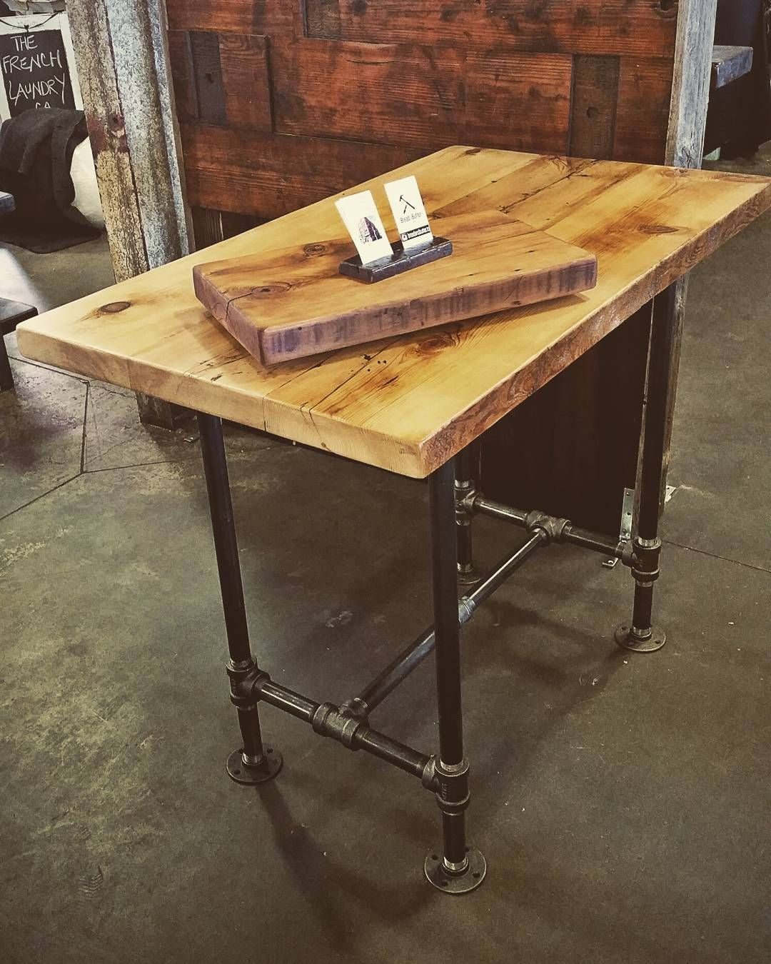 """Bread&Butter Designs on Instagram: """"#jillyswood adjustable condo harvest table or kitchen island.  Easily adjusts from dining height,  to counter height and bar height.…"""""""