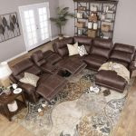 Brown 6 Piece Power Reclining Sectional | Northridge Sectional