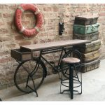 Brown and Black 5 Piece Counter Height Dining Set - Bicycle