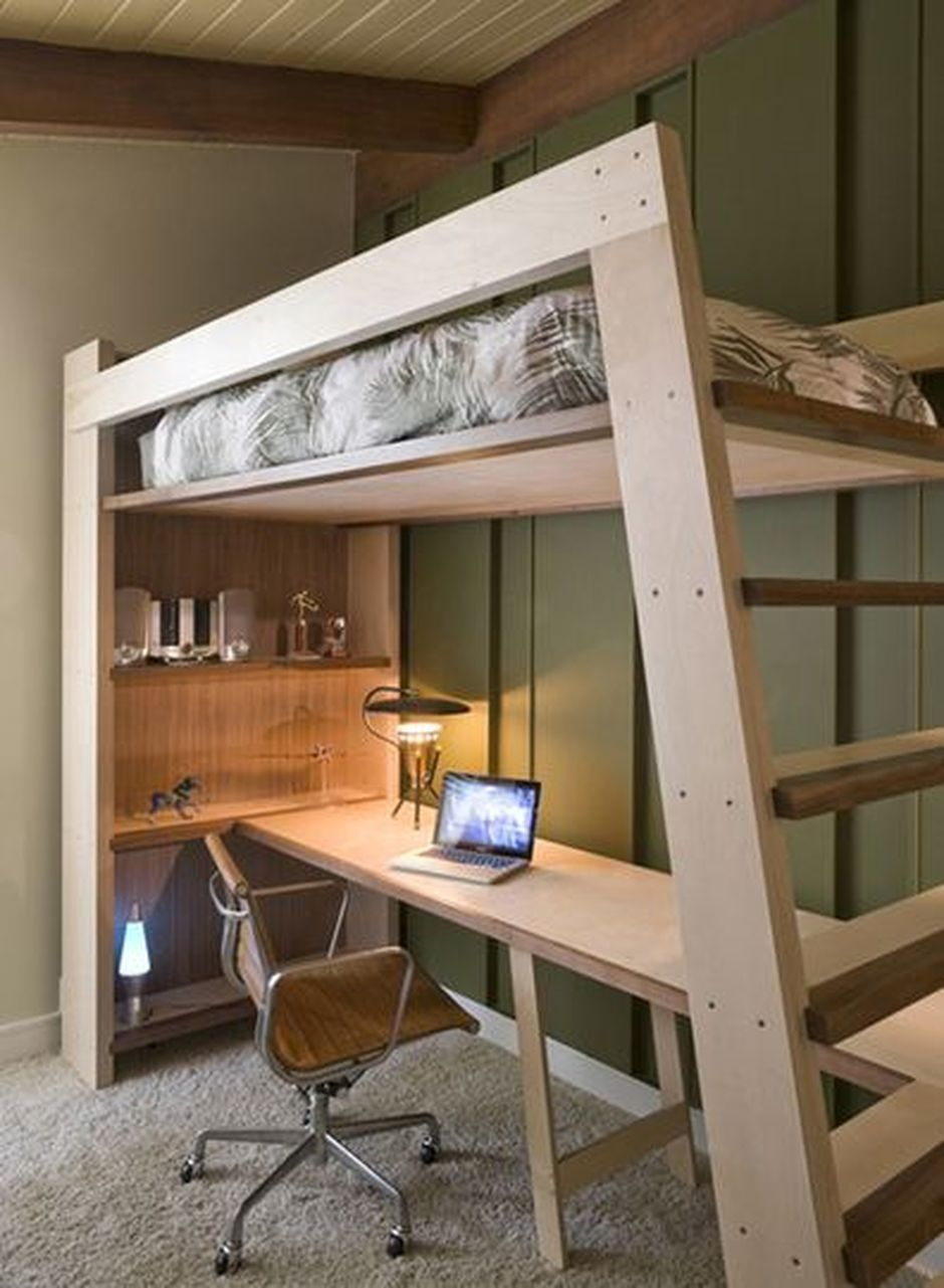Build Loft Bed with Desk