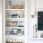 Built in bookshelf Rustic Farmhouse Bookshelf Decor IG @sincerelystephanie3 - Sh...