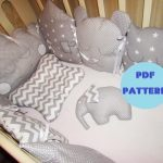 Bumper Baby Crib sleeping-baby bed nest bedding set, Cot Bumper,Baby Pillow,crib bedding,bed lie,nursery bed,Sewing Pattern and Instruction